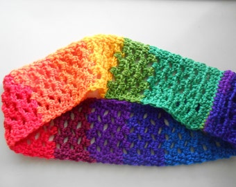 Crochet Cowl Scarf Favorite Stripes