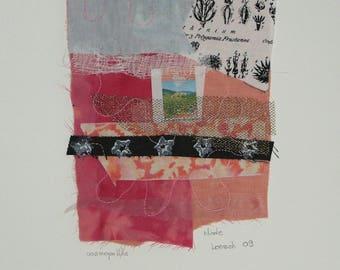 "Composition of textile art entitled ""cosmopolitan"""