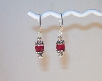 Ruby Swarovski Crystal Earrings