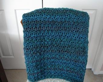 Teal Afghan, Throw Blanket, Sofa Throw, Crocheted Blanket, Crocheted Throw, Housewarming Gift, Hostess Gift