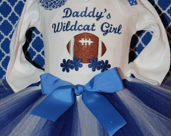 Kentucky, Kentucky Wildcats, Wildcats, baby girl clothes, baby girl gift, baby shower gift, new baby gift, blue, white, bodysuit, baby tutu