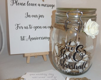 Rustic Message in a Bottle, Wedding Guest Book, Guest Book, alternative Wedding guest book, 1st Anniversary gift, Personalised guestbook