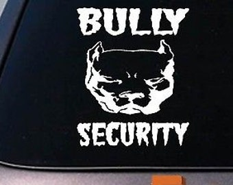 """Bully Security American Pit Bull Pitbull 6""""Sticker Decal Apbt Rescue Abkc *B157*"""
