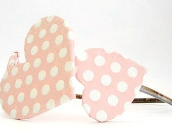 Polka Dottie Hearts Paper Mache Headband