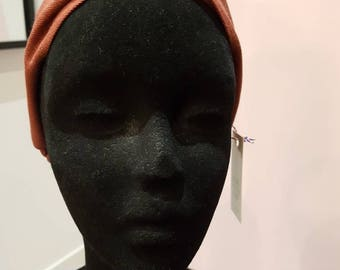 Brick red headband