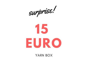 Surprise box, 15 Euro game, surprise, mystery box, yarn, wool, cotton,