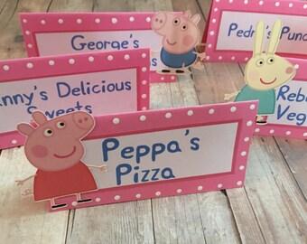 Peppa Pig Food Labels