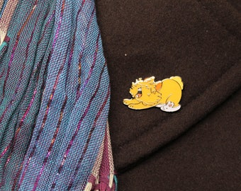 Lionhead Roar Yawning Bunny Rabbit Enamel Pin - House Rabbit - Soft Enamel Pin - Bunny lapel pin - Bunnies gift