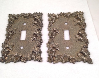 Wall Switch Cover Decorative Switch Plate Wall Plate Vintage Mid Century American Tack & HDWE