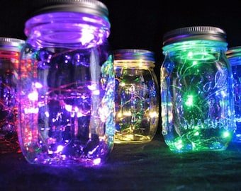 Colorful Centerpiece Lights, 39 inch Fairy Lights Budget Saver!  10 Red, Green, Blue, Pink, or Warm White LEDs, Replaceable Batteries.