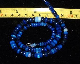 BLUE Ethiopian Welo Opal Necklace!~56 Carats~True Royal Blue~Fast Ship