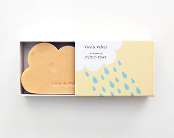 Laneways Cloud Soap (VELVET) Mandarin, Grapefruit, Litsea & Benzoin - Macadamia and Coconut Milk Soap
