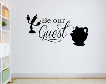 Disney Vinyl Wall Word Decal - Be Our Guest (Beauty and the Beast) - Disney Decor - Children's Room Decor