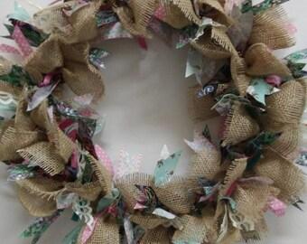 Hand-Tied Burlap & Ribbon Wreath