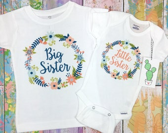 Big Sister Little Sister Outfits, Big Sister Shirt, Big Sister Announcement, Big Sister Gift, Little Sister Outfit, Newborn Little Sister