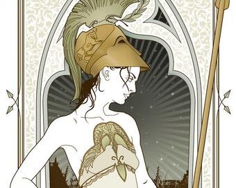 Minerva Mythological gicleé print