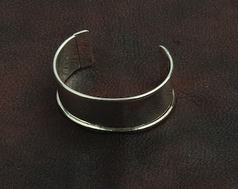 Cuff Bracelet for Embellishment, Channel for adding art or other media , sold by each J854S