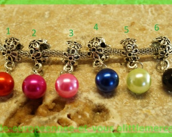 Pearl European bail N512 N4 for bracelet charms