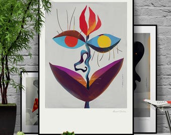 I see you. Original illustration art poster giclée print signed by Paweł Jońca.