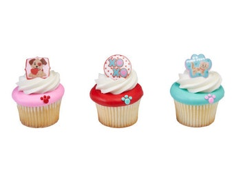 PAWS AND KISSES Cupcake  Rings