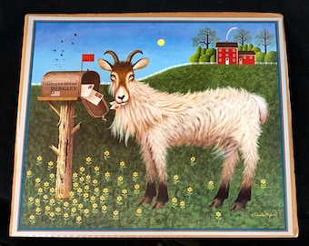 Vintage Charles Wysocki Goatmeal Goat Scarce Calendar Page Print