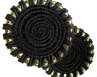 Buttons, thread black 2pcs