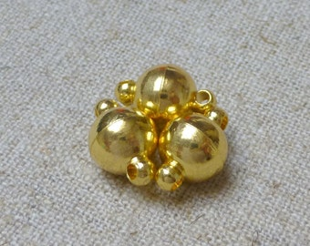 free UK postage 5 sets 8mm Gold Round Strong Magnetic Clasps