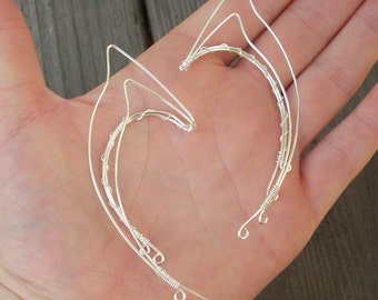 Silver wire Elven Ear Cuffs