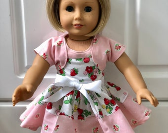 "American Girl Doll clothes Sundress with shrug for 18"" Dolls"