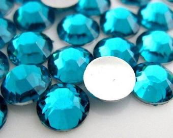 5mm Dark Aqua Flatback Non-Hotfix Rhinestones - 5,000 pieces - Loose, Bling, Nail Art, Decoden TDK-R049