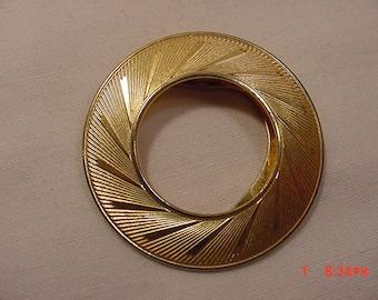 Vintage Lieba U.S.A. Gold Tone Metal Scarf Holder 18 - 502