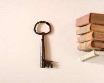 Large antique key. Antique Iron Key.