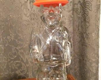 Vintage Construction worker aftershave bottle by mennen