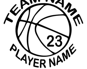 Custom Vinyl Basketball Window Decal
