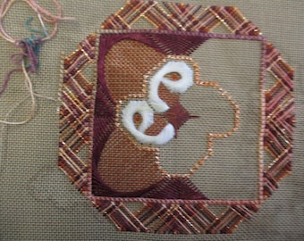 Victiria Lindsey needlepoint canvas 1991 10 by 10 inches preworked canvas unfinished no yarn included full instructions