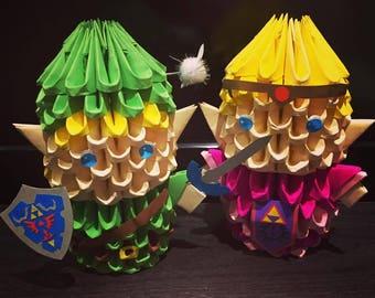 Link and Zelda 3D Origami
