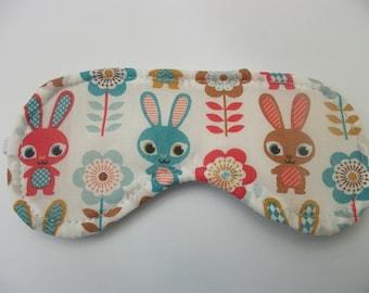 Cotton blackout eye mask , sleep mask , flight,travel, migraine ***rabbit ***