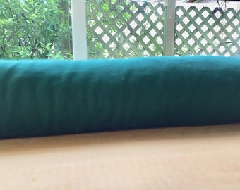 "Door Draft Stopper 38"" Cedar Filled Insect Repellent, Window Draftstopper, Breeze Blocker, Draft Guard, Door Snake, Teal"