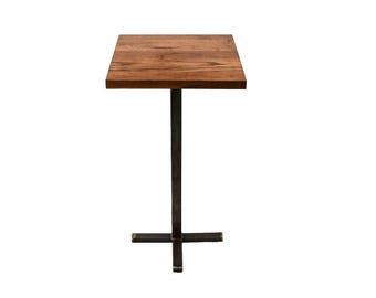 Wood and Steel Pub Table - Rustic - Industrial