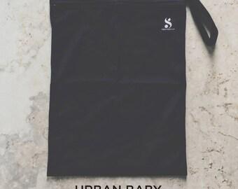 Wet Bag, Diaper Storage Bag, Travel Bag, Swim Bag, Waterproof Bag, Nappy Bag, Cloth Diaper Bag, TPU, Modern, Diaper Cover, Black