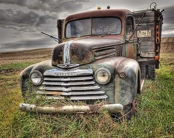 Vintage, Mercury Farm truck,