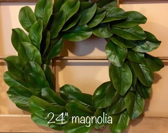 Magnolia Wreath, Farmhouse Decor, Fixer Upper Decor, Farmhouse Wreath