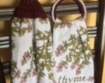 Hanging Dish Towels set Crochet Topper Free Shipping
