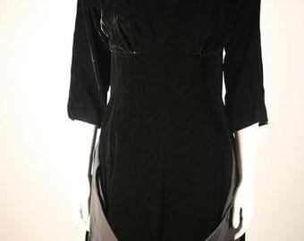 Stunning Black Velvet Boatneck Dress