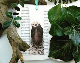 Wooden bookmark - Wood bookmark - Otter bookmark - Animal bookmark - Otter - Book lover gift - Handmade bookmark - Unique bookmark