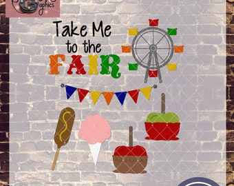 Take Me To the Fair Variety with SVG, DXF, PNG, Eps Commercial & Personal Use