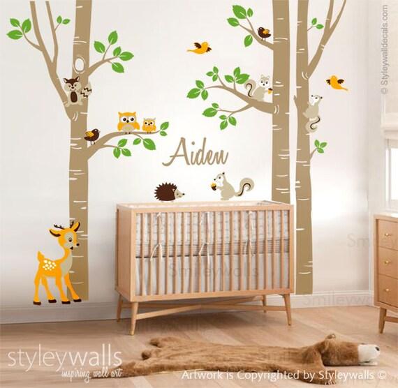 wandtattoo birke b ume wald b ume wandtattoo wald tiere. Black Bedroom Furniture Sets. Home Design Ideas