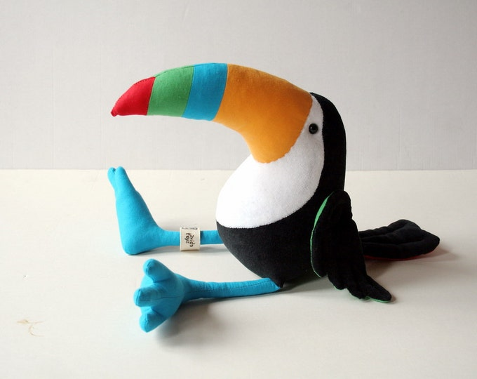 Colorful Toucan Plush Birdie, Cuddly Toucan Plush Toy