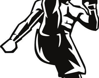 mma silhouette etsy rh etsy com MMA Gloves Clip Art mma octagon clipart