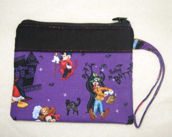 Disney Halloween Wristlet Mickey Donald Goofy Embroidered Monogrammed